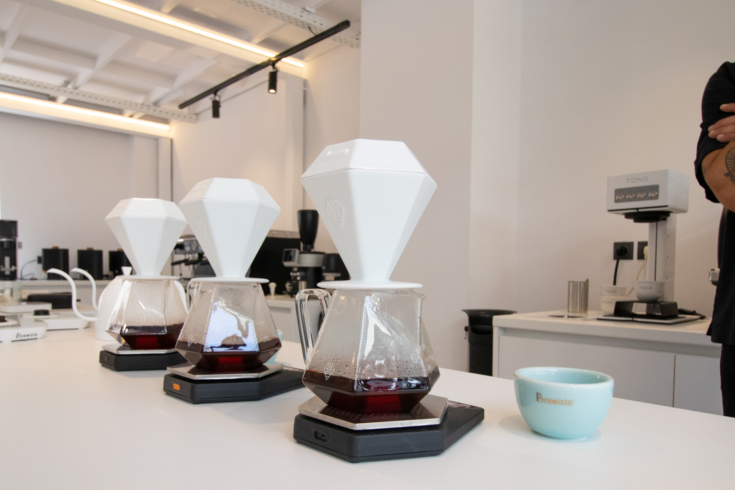 coffee pourover with GEM Series dripper