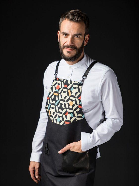 Stefanos Domatiotis in his apron