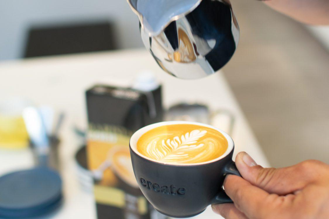 Latte Art preparation